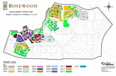 Development Permit Map - Issued up to March 19, 2014